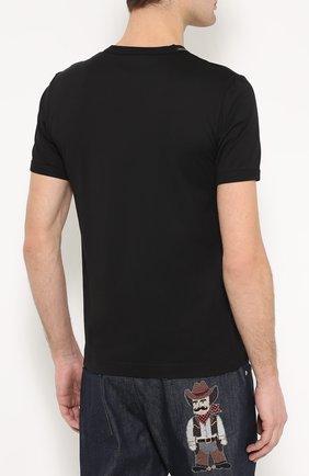 Хлопковая футболка с аппликацией | Фото №4