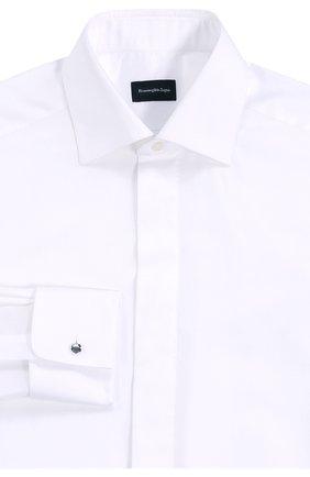 Мужская хлопковая сорочка с воротником акула ERMENEGILDO ZEGNA белого цвета, арт. 8019509MD0BR   Фото 1