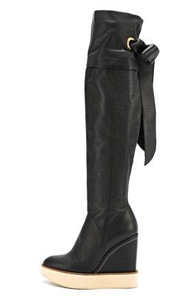 Кожаные сапоги на с бантом  Paloma Barcelo черные | Фото №1