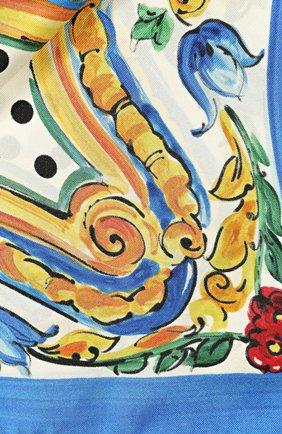 Шелковый платок с принтом Dolce & Gabbana черно-белый | Фото №3