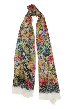 Шелковый шарф с принтом Dolce & Gabbana разноцветный | Фото №1