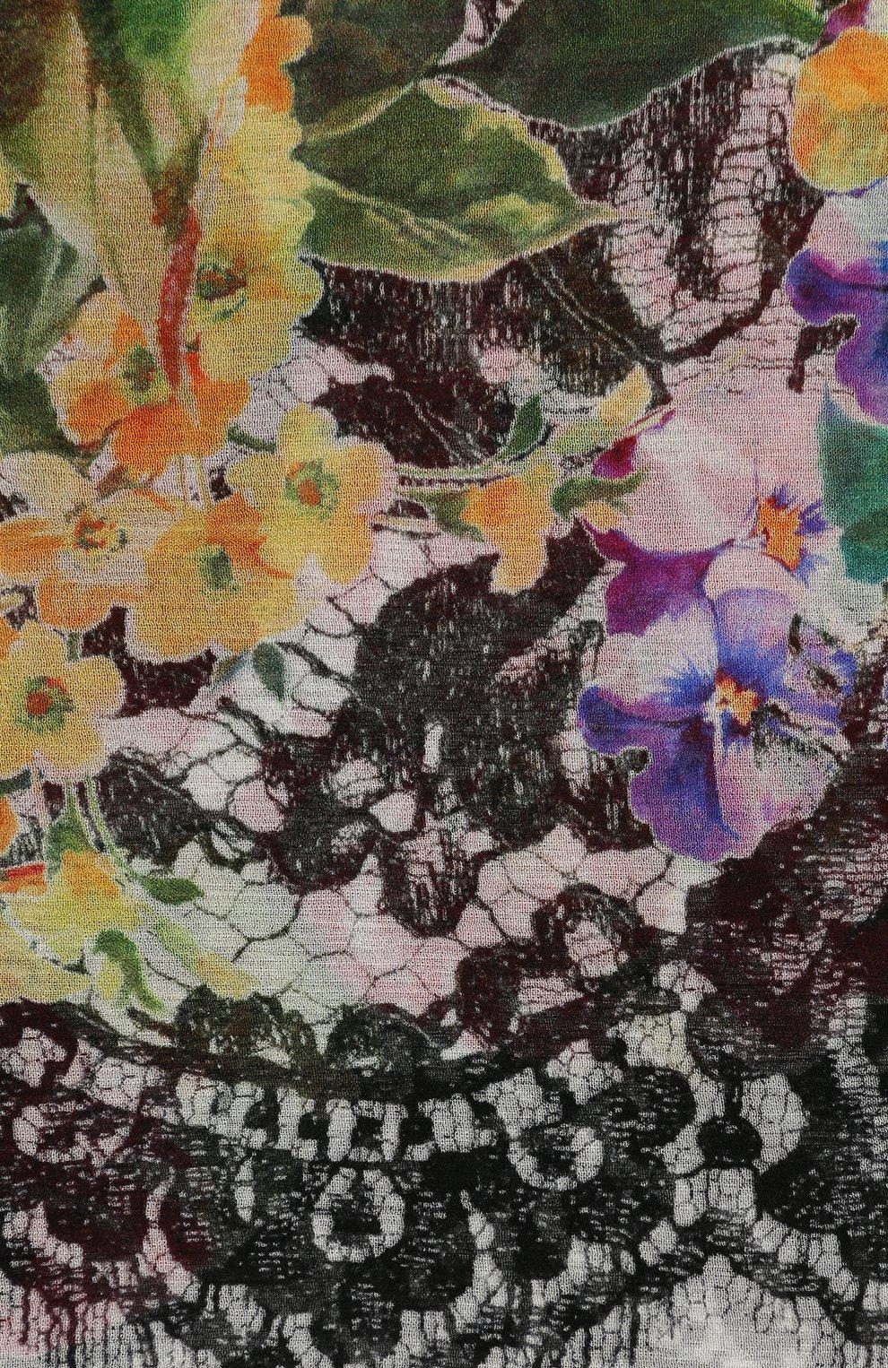 Шелковый шарф с принтом Dolce & Gabbana разноцветный | Фото №3