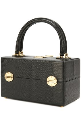 Сумка Dolce Dox из тисненой кожи Dolce & Gabbana черного цвета | Фото №3