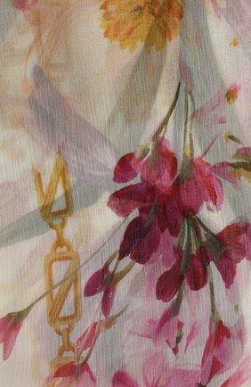 Шелковый шарф с принтом Dolce & Gabbana белый   Фото №3