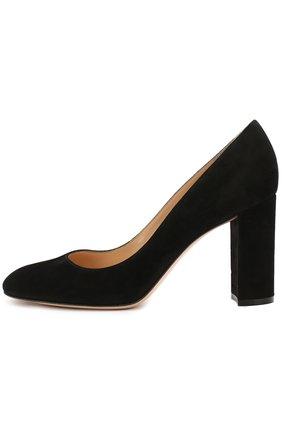 Замшевые туфли Linda на устойчивом каблуке   Фото №1