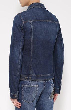 Джинсовая куртка с вышивкой  Dolce & Gabbana синяя | Фото №4