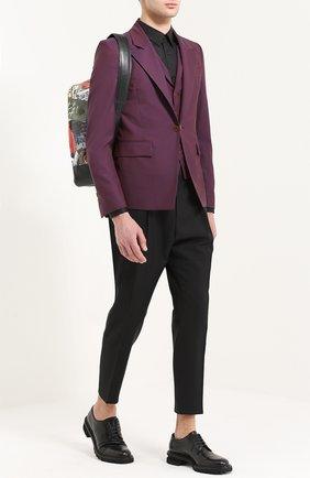 Шерстяной однобортный пиджак Vivienne Westwood фиолетовый | Фото №1