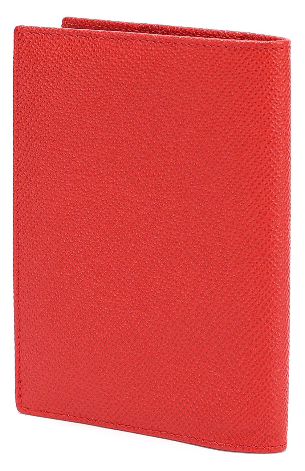 Кожаная обложка для документов Dolce & Gabbana красного цвета   Фото №2