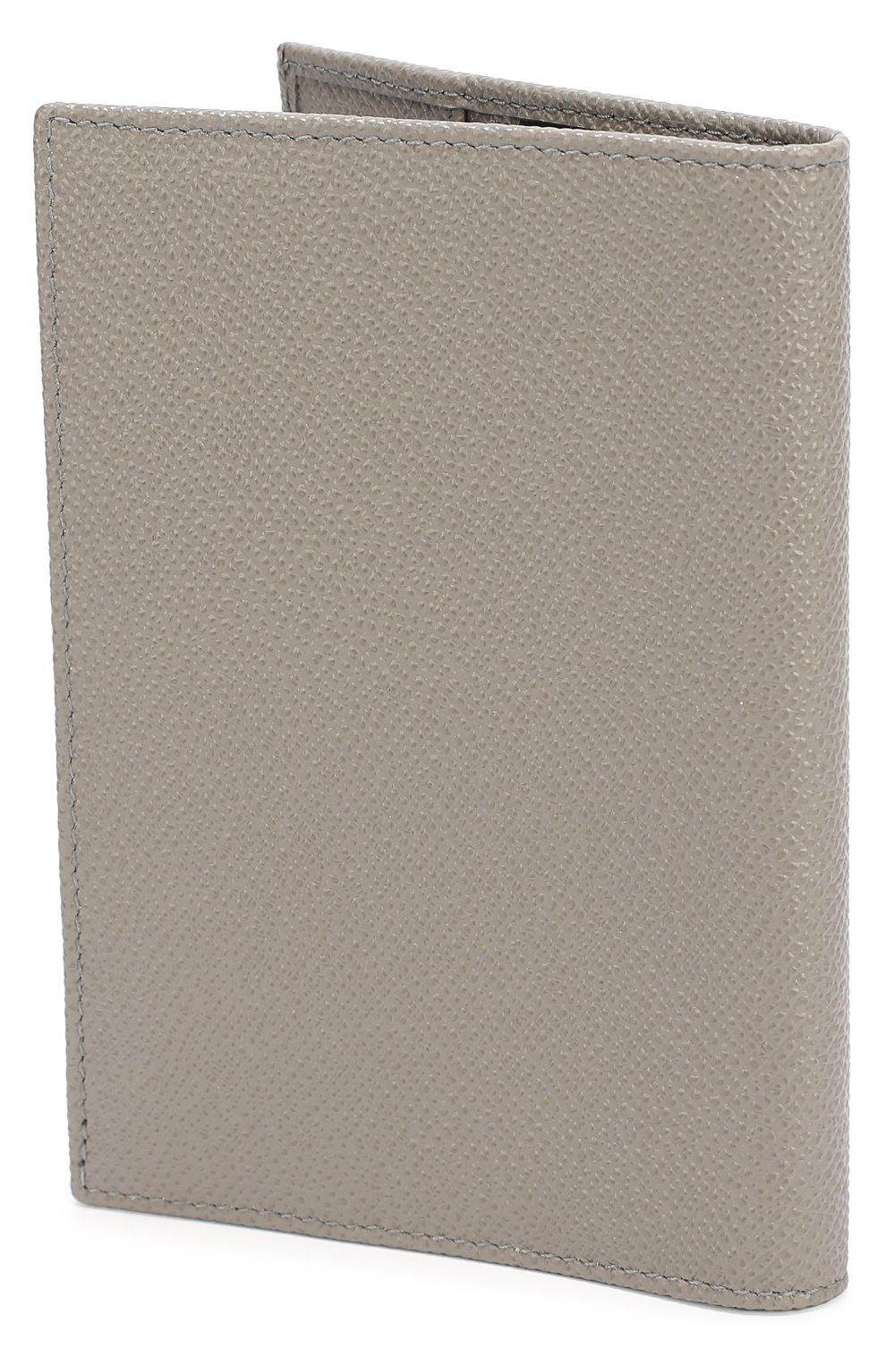 Кожаная обложка для документов Dolce & Gabbana серого цвета | Фото №2