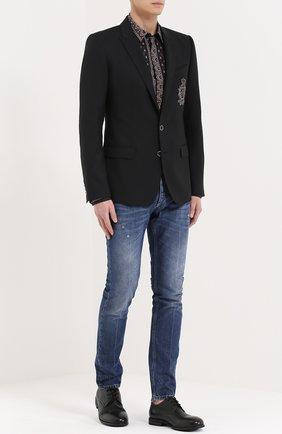 Шерстяной однобортный пиджак с вышивкой | Фото №2