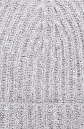 Детского кашемировая шапка LORO PIANA светло-серого цвета, арт. FAF8492 | Фото 3 (Материал: Кашемир, Шерсть)