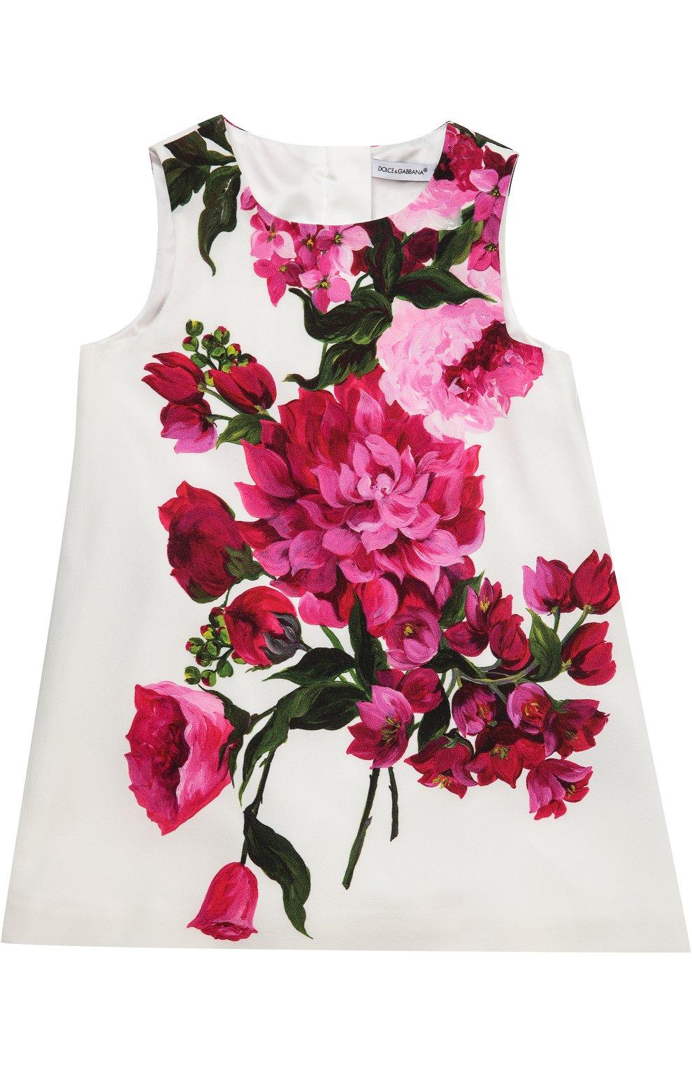Платье с цветочным принтом | Фото №1