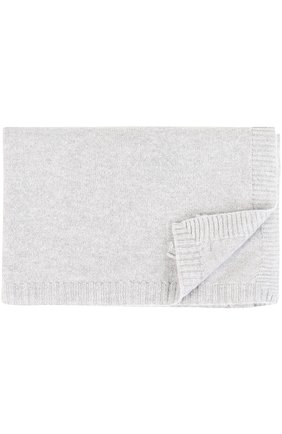 Одеяло из кашемира Baby T серого цвета | Фото №1