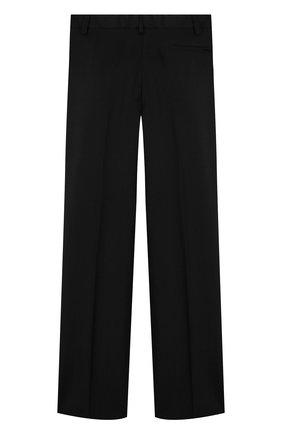 Детские шерстяные брюки прямого кроя DAL LAGO черного цвета, арт. N202/1011/7-12 | Фото 2