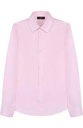 Детская хлопковая рубашка DAL LAGO розового цвета, арт. N402/1165/7-12 | Фото 1