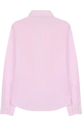 Детская хлопковая рубашка DAL LAGO розового цвета, арт. N402/1165/7-12 | Фото 2