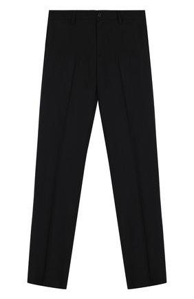 Детские шерстяные брюки прямого кроя DAL LAGO черного цвета, арт. N202/1011/XS-L | Фото 1