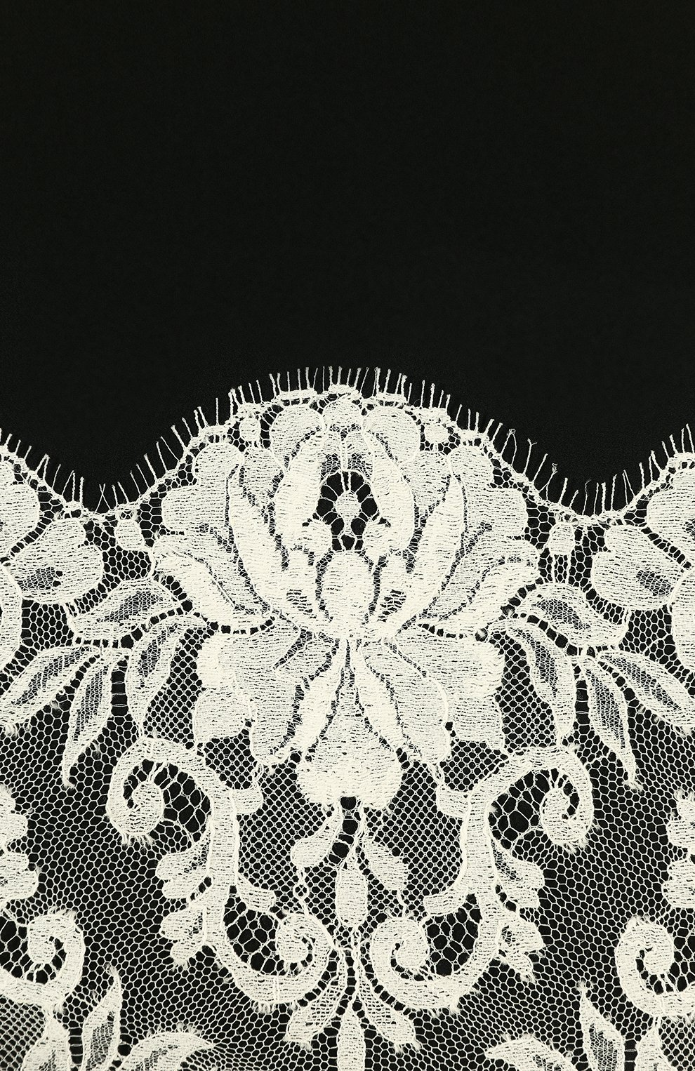 Шелковый платок с кружевом   Фото №3