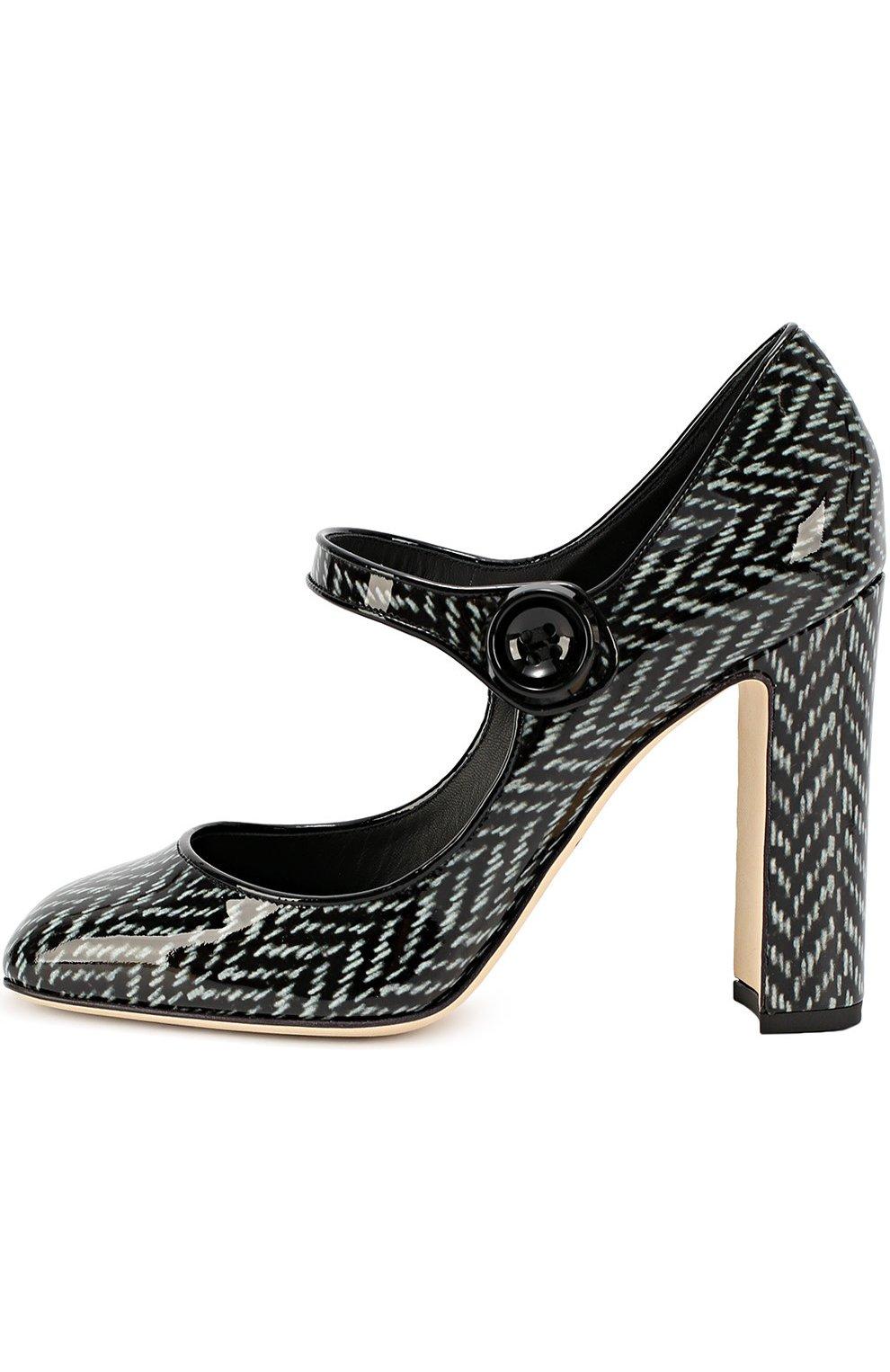 Лаковые туфли Vally с принтом   Фото №1