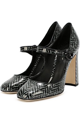 Лаковые туфли Vally с принтом   Фото №2