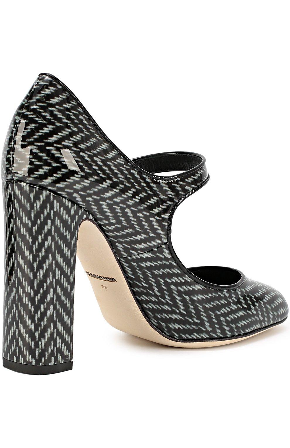 Лаковые туфли Vally с принтом   Фото №3