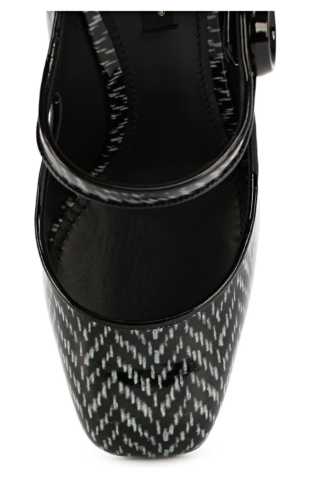 Лаковые туфли Vally с принтом   Фото №4