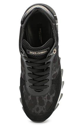 Комбинированные кроссовки Capri с принтом Dolce & Gabbana черные | Фото №4