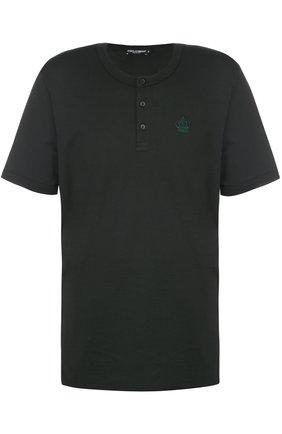 Хлопковая футболка хенли | Фото №1