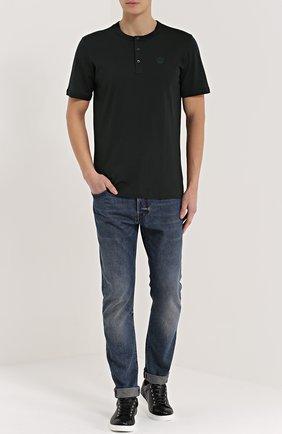 Хлопковая футболка хенли | Фото №2