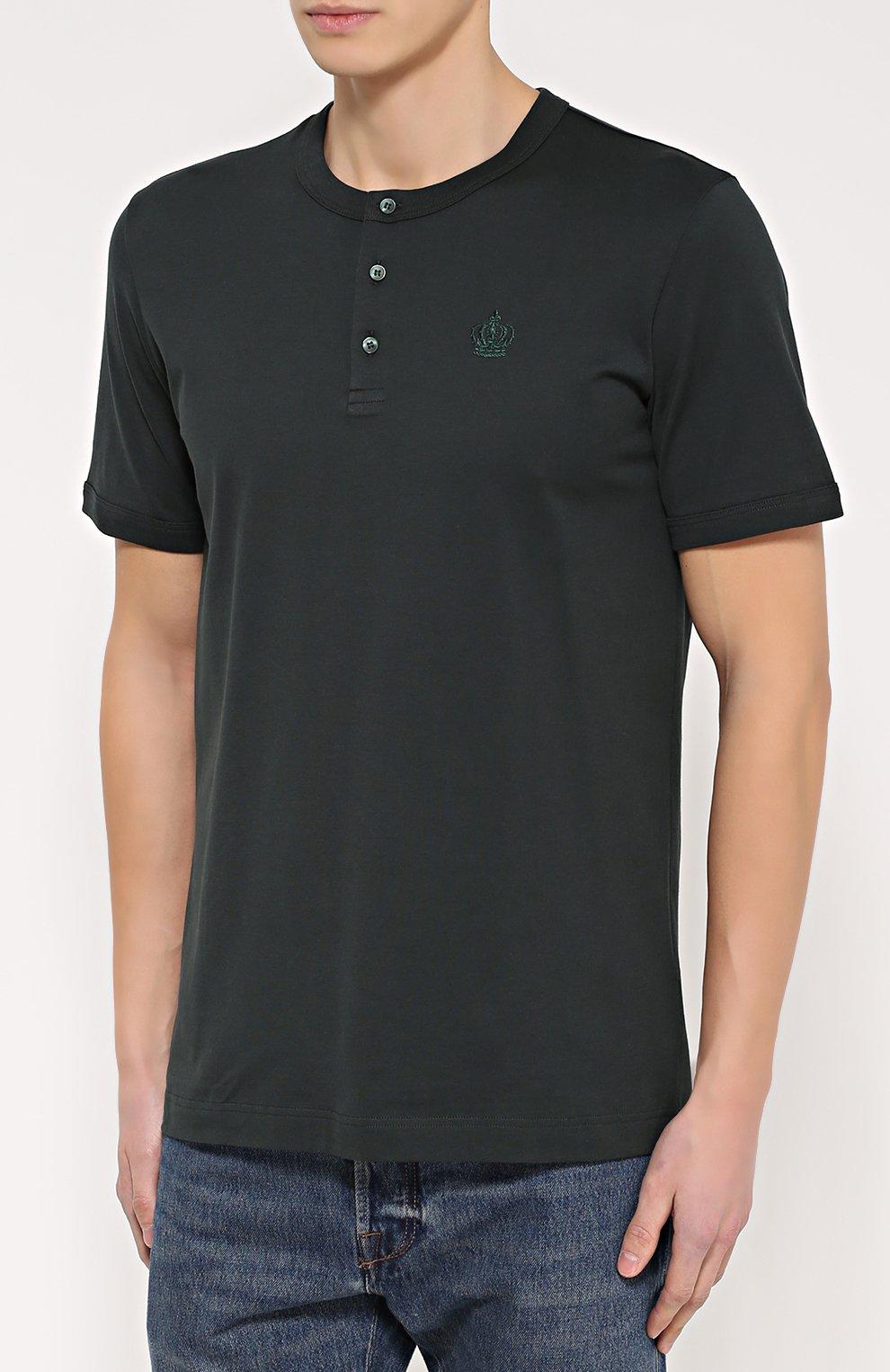 Хлопковая футболка хенли | Фото №3