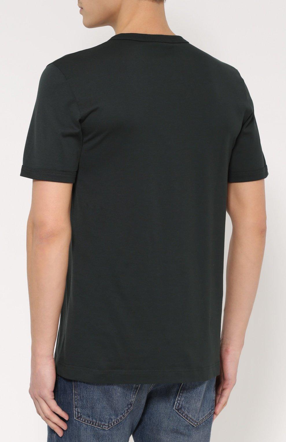 Хлопковая футболка хенли | Фото №4