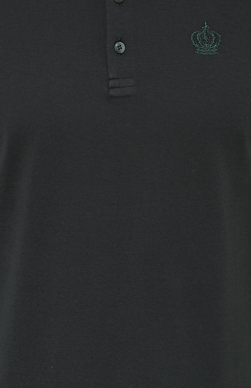 Хлопковая футболка хенли | Фото №5