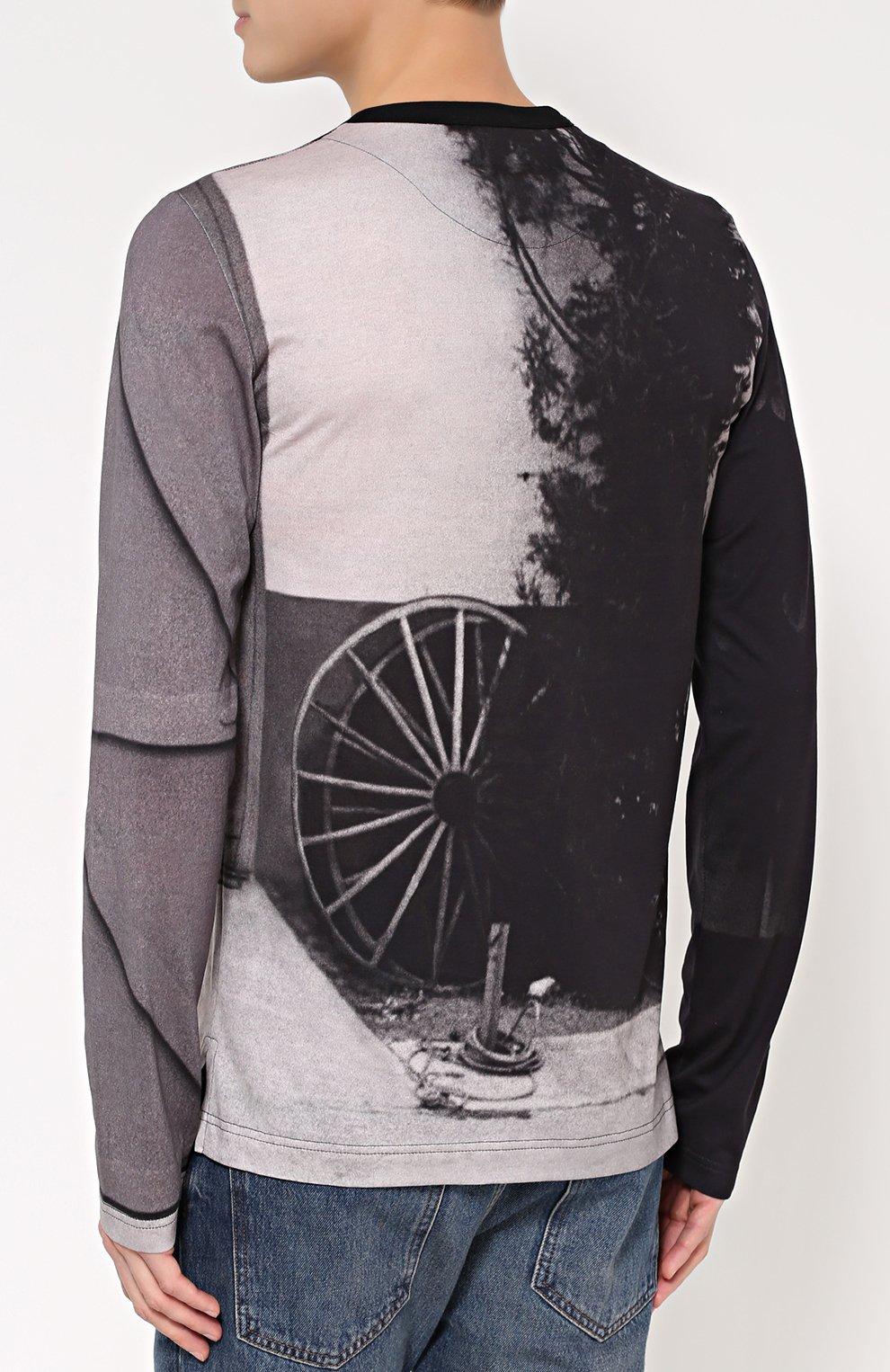 Хлопковый лонгслив с принтом James Dean Dolce & Gabbana серая | Фото №4