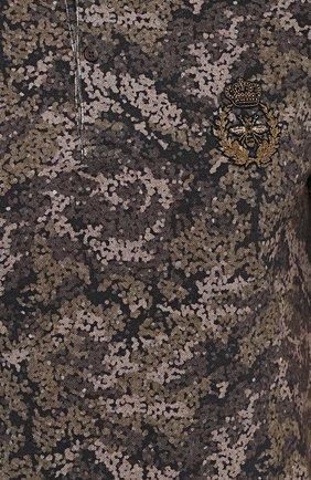 Хлопковое поло с камуфляжным принтом Dolce & Gabbana хаки | Фото №5