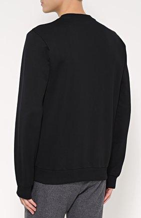 Хлопковый свитшот с вышивкой на груди Dolce & Gabbana черный | Фото №4