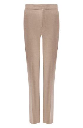 Шерстяные расклешенные брюки со стрелками   Фото №1
