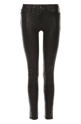 Кожаные брюки-скинни Rag&Bone черные | Фото №1