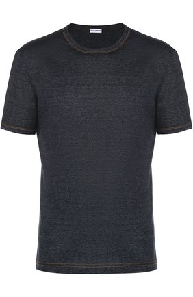 Хлопковая футболка с круглым вырезом | Фото №1