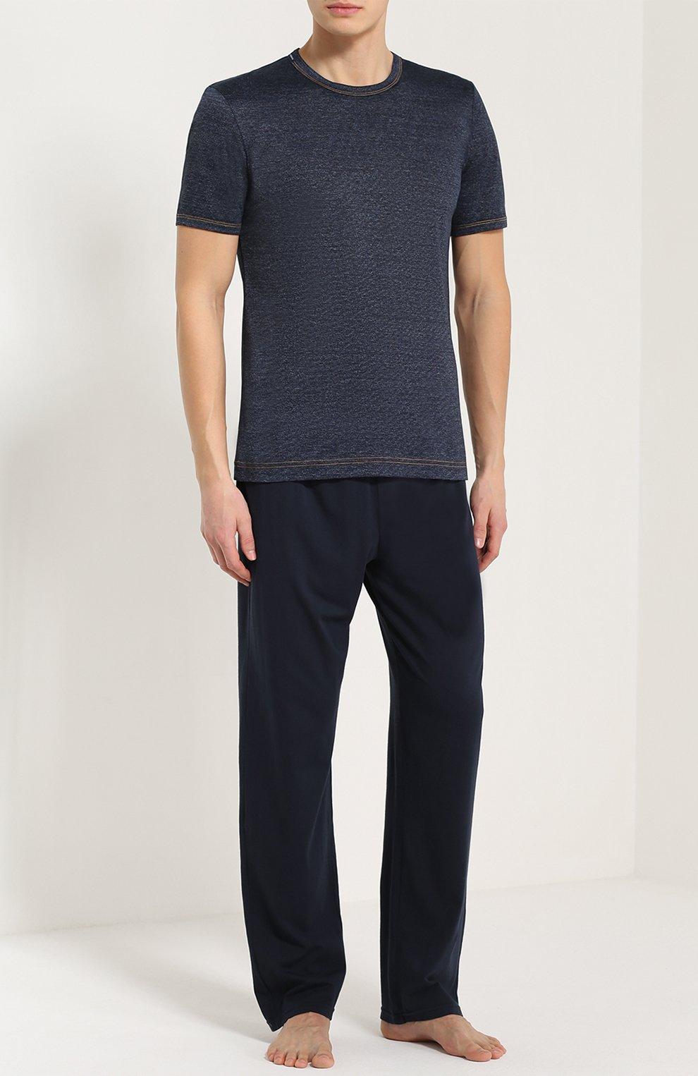 Хлопковая футболка с круглым вырезом Dolce & Gabbana синяя   Фото №2