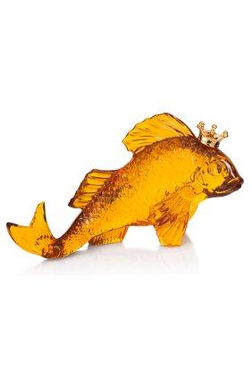Скульптура Золотая рыбка в короне | Фото №1