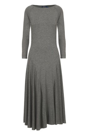 Приталенное платье с длинным рукавом и широкой юбкой | Фото №1