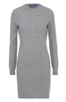 Кашемировое платье с круглым вырезом и длинным рукавом | Фото №1