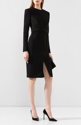 Женская кожаные туфли romy 100 JIMMY CHOO черного цвета, арт. R0MY 100/PAT | Фото 2