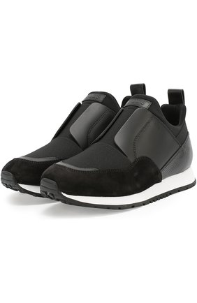Комбинированные кроссовки с эластичной вставкой | Фото №1