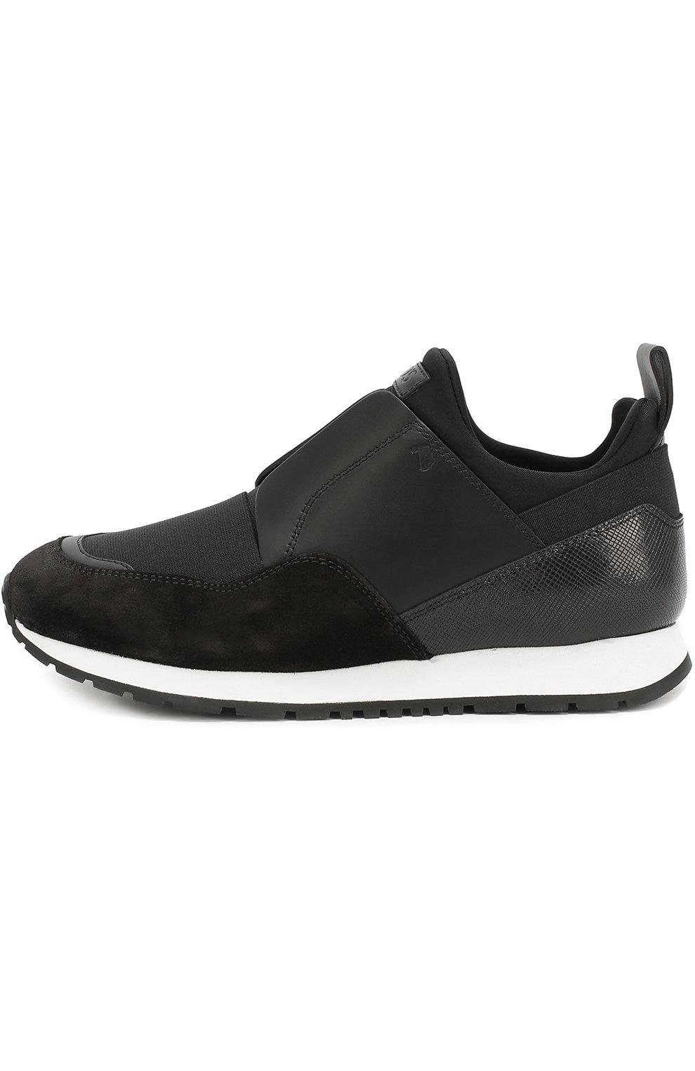 Комбинированные кроссовки с эластичной вставкой | Фото №2