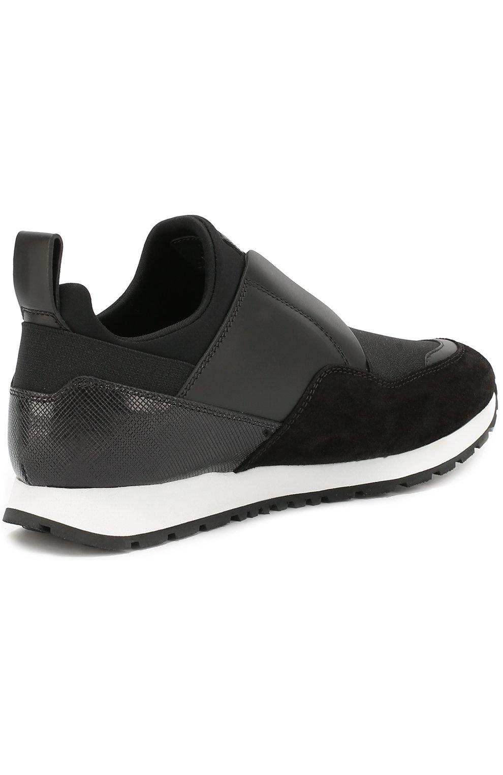 Комбинированные кроссовки с эластичной вставкой | Фото №3