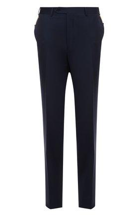 Мужские классические шерстяные брюки  CANALI темно-синего цвета, арт. AS10326/78012   Фото 1