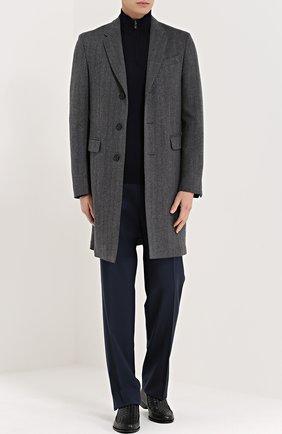Мужские классические шерстяные брюки  CANALI темно-синего цвета, арт. AS10326/78012   Фото 2