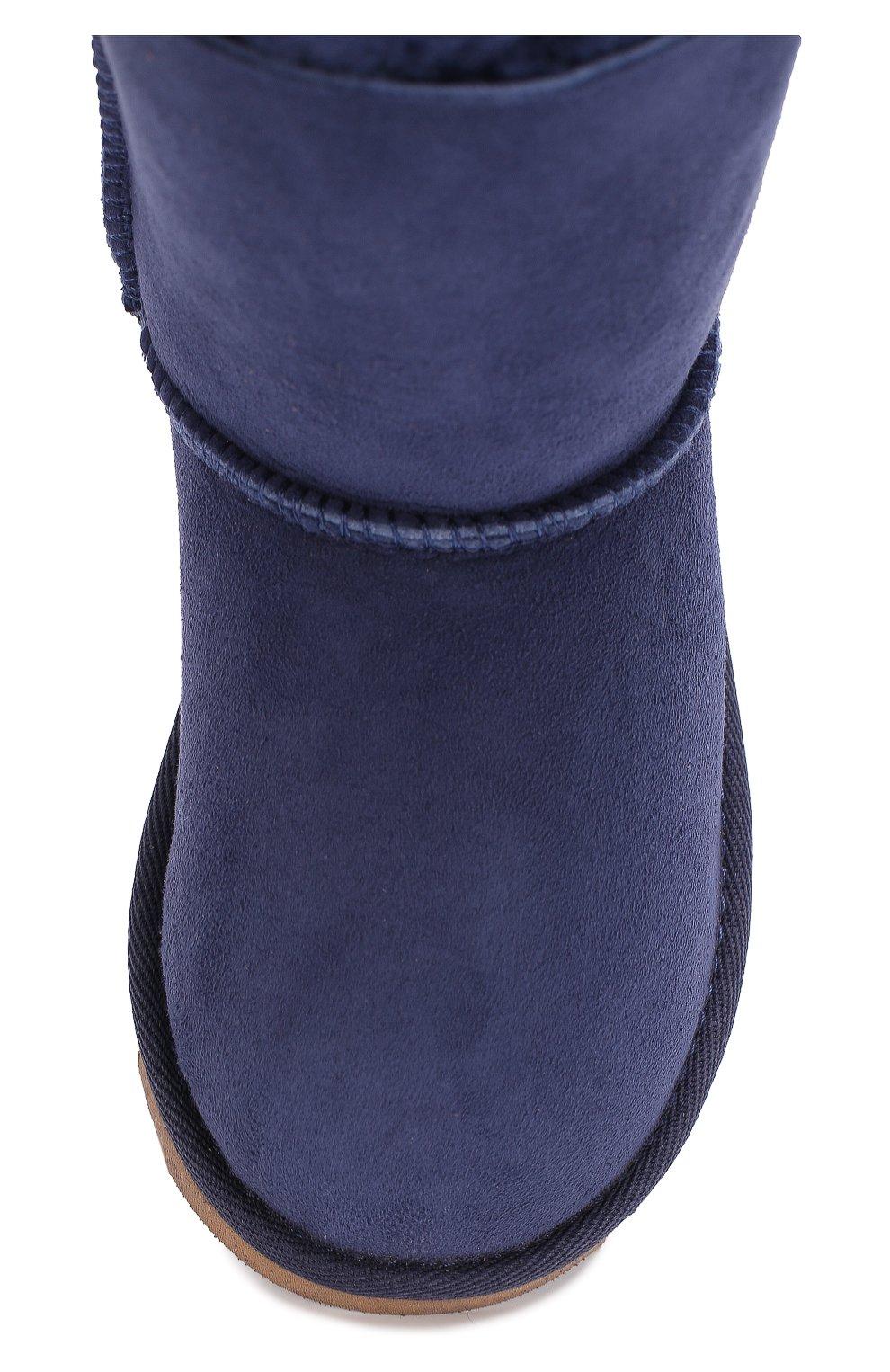 Детские замшевые полусапоги с бантами UGG синего цвета — купить за ... 079c69559e880