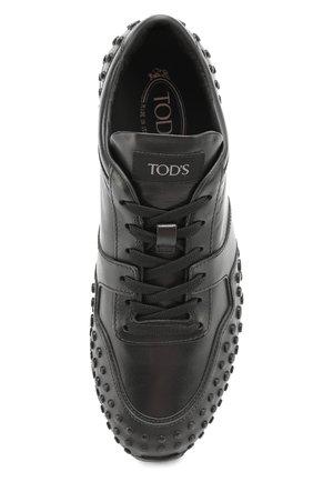 Кожаные кеды Sportivo с декором Tod's черные | Фото №4